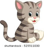 cute cat cartoon   Shutterstock .eps vector #525511030