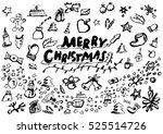vector sketch of  christmas... | Shutterstock .eps vector #525514726