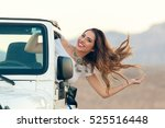 happy smiling young woman in... | Shutterstock . vector #525516448