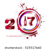 happy new year 2017. abstract... | Shutterstock .eps vector #525517660