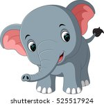 cute elephant cartoon | Shutterstock .eps vector #525517924
