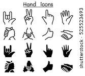human hand icon set | Shutterstock .eps vector #525523693