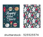 vector set of hand drawn of... | Shutterstock .eps vector #525525574