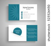 business card with with... | Shutterstock .eps vector #525526450
