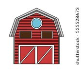 isolated farm building design | Shutterstock .eps vector #525528673