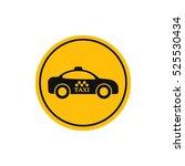 taxi cab yellow vector sign....