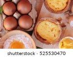 making egg tart is delicious... | Shutterstock . vector #525530470