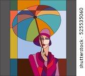 Woman Under Umbrella Pattern....