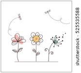 Hand Drawn Doodle Flowers Set...