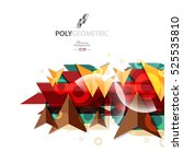 polygeometric abstract colorful ... | Shutterstock .eps vector #525535810