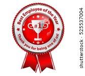 best employer of the year.... | Shutterstock .eps vector #525537004