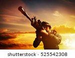 Soldier In Combat Shooting Wit...