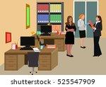 three women in office | Shutterstock .eps vector #525547909