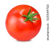 tomato isolated on white. with... | Shutterstock . vector #525549703