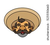 isolated mexican man design | Shutterstock .eps vector #525550660