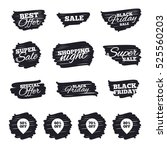 ink brush sale stripes and... | Shutterstock . vector #525560203