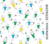 Seamless Pattern Boy Playing...
