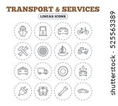 transport and services icons.... | Shutterstock . vector #525563389
