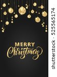 merry christmas card with... | Shutterstock .eps vector #525565174