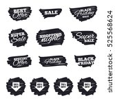 ink brush sale stripes and... | Shutterstock . vector #525568624