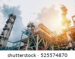 industrial zone the equipment... | Shutterstock . vector #525574870