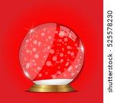 christmas snow globe...   Shutterstock .eps vector #525578230