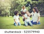 african american family... | Shutterstock . vector #525579940