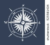 Compass Wind Rose Hand Drawn...