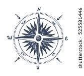 compass wind rose hand drawn... | Shutterstock .eps vector #525581446