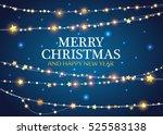 vector christmas decorations.... | Shutterstock .eps vector #525583138