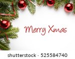 christmas decoration background ... | Shutterstock . vector #525584740