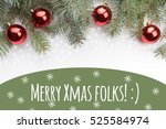 christmas decoration background ... | Shutterstock . vector #525584974
