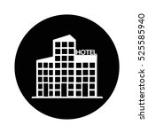 hotel icon illustration design  | Shutterstock .eps vector #525585940