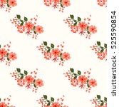simple cute pattern in small... | Shutterstock .eps vector #525590854