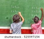 multi ethnic primary school... | Shutterstock . vector #525597154