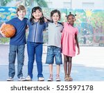 elementary school children... | Shutterstock . vector #525597178