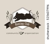 hunting club. wild boar.symbol... | Shutterstock .eps vector #525607996