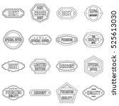 golden labels icons set.... | Shutterstock . vector #525613030