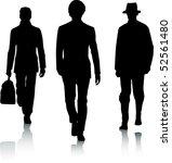 silhouette men | Shutterstock .eps vector #52561480