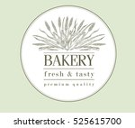 bakery retro bread or beer logo ... | Shutterstock .eps vector #525615700