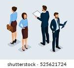 fashionable isometrics ... | Shutterstock .eps vector #525621724