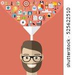 flat design concepts big data... | Shutterstock .eps vector #525622510