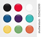 glossy web round buttons in... | Shutterstock .eps vector #525623350