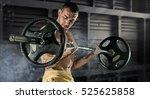 sport  workout. closeup... | Shutterstock . vector #525625858