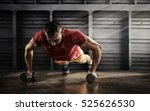 sport. handsome man doing push... | Shutterstock . vector #525626530