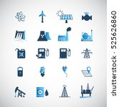 energy resources icon set .... | Shutterstock .eps vector #525626860