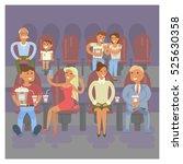 happy people concept. movie ... | Shutterstock . vector #525630358