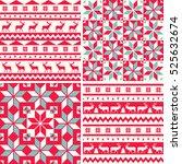 set of winter holiday... | Shutterstock .eps vector #525632674