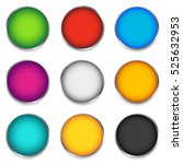 glossy colorful circle  sphere  ... | Shutterstock . vector #525632953
