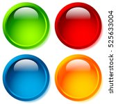 bright and glossy circle shape  ... | Shutterstock . vector #525633004